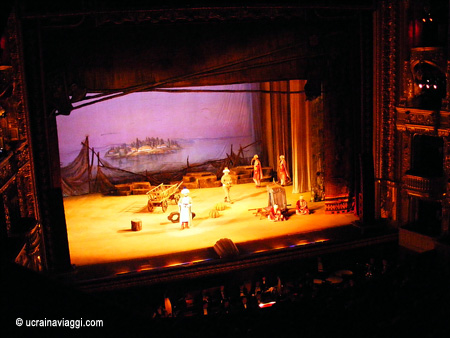 Interno, palco