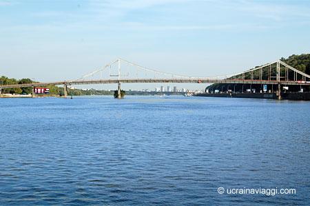 Il fiume Dnipro e la sua ampiezza