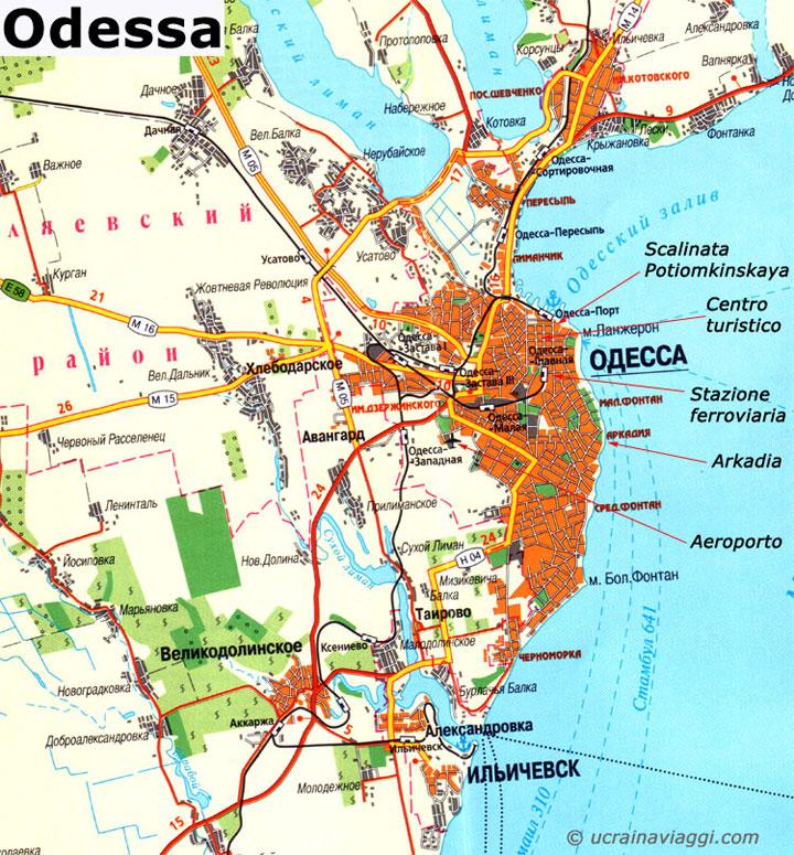 Odessa - mappa della città